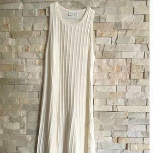 White Ribbed Sleeveless Dress - Gap XS - NEW